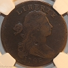 1796 S103 R4+ Draped Bust Large Cent LIHERTY Error NGC F12