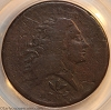 1793 S9 R2 Wreath Large Cent Vine and Bars Edge PCGS VG8