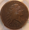 1793 S11a R4+ Wreath Large Cent PCGS F12 Rasmussen