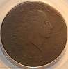 1793 S3 R3- Chain Large Cent AMERICA PCGS F12