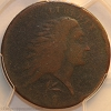 1793 S11b R4 Wreath Large Cent Lettered Edge PCGS G4
