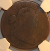 1805 S267 R1 Draped Bust Large Cent Double Struck Mint Error NGC VG8