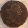 1796 S103 R4+ Draped Bust Large Cent LIHERTY Error PCGS F12