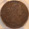 1800/1798 S190 R3 Draped Bust Large Cent PCGS F12 CAC