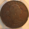 1797 S120b R2 Draped Bust Large Cent Reverse 1796 Gripped Edge PCGS VG10