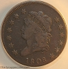 1808 S279 R1 Classic Head Large Cent ANACS F12