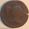 1795 S76b R1 Liberty Cap Large Cent Raw VG8 Double Struck TWO DATES