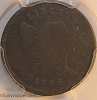 1796 C2 Liberty Cap Half Cent With Pole PCGS AG3 Full Date