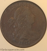 1807/6 S273 R1 Draped Bust Large Cent ANACS EF45 Large 7/6 Overdate Glossy Dark Chocolate