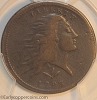 1793 S10 R4 Wreath Large Cent Vine & Bars Edge PCGS F15 Neiwsinter collection