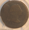 1795 S76b R1 Liberty Cap Large Cent Plain Edge PCGS AG3 OFF-CENTER Mint Error