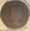1793 S14 R5- Liberty Cap Large Cent PCGS G4 Widok Collection