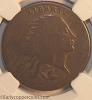 1793 S6 R3 Wreath Large Cent Vine and Bars Edge NGC VG8 Glossy Chocolate Brown
