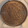 1832 C3 R1 Classic Head Half Cent PCGS MS61BN Furnace Run Collection