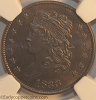 1833 C1 R1 Classic Head Half Cent NGC MS65+BN Furnace Run Collection