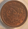 1857 C1 R2 Braided Hair Half Cent PCGS MS64RB Furnace Run Collection