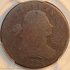 1796 S105 R5- Draped Bust Large Cent PCGS AG3