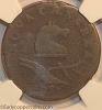 1787 New Jersey M38-c W5190 Small Planchet Plain Shield NGC AG3 Jim Rehmus