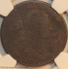 1801 S218 R5+ Draped Bust Large Cent NGC VG Details RWH Collection