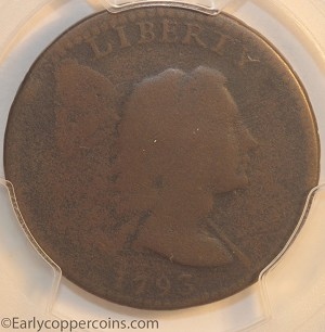 1793 S13 R4- Liberty Cap Large Cent PCGS AG3 and EAC G4
