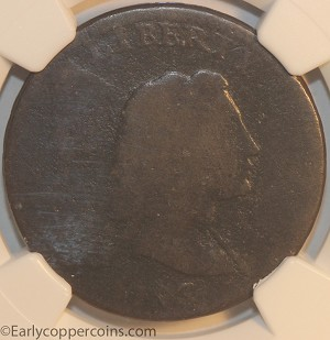 1793 S13 R4- Liberty Cap Large Cent NGC FR2 Full Date Chocolate Brown