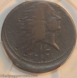 1793 S11a R4+ Wreath Large Cent PCGS VF Off-Center Mint Error Neiswinter