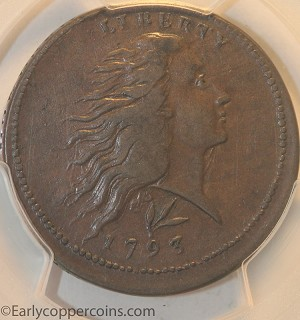 1793 S11b R4 Wreath Large Cent PCGS EF40 CAC CHOICE