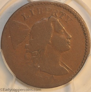 1794 S49 R2 Liberty Cap Large Cent Head of 1794 PCGS AG3 CHOICE Tan
