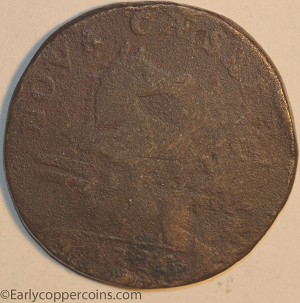 1786 New Jersey M15-U R5+ W4830 Raw Fine Jim Rehmus