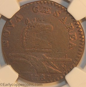 1787 New Jersey M32-T W5100 Outlined Shield R2 NGC EF40 Jim Rehmus