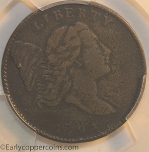 1794 C1a R3 Liberty Cap Half Cent PCGS VF30 Furnace Run Collection
