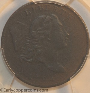 1794 C1b R6 Liberty Cap Half Cent PCGS VF Details Furnace Run Collection