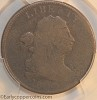 1802/0 C1 R6 Draped Bust Half Cent Reverse of 1800 PCGS AG3 Furnace Run Collection
