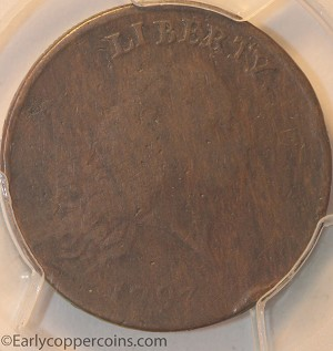 1793 S4 R3 Chain Large Cent Periods AMERICA PCGS VG10 ex-Heritage