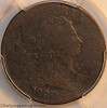 1802/0 C1 R6 Draped Bust Half Cent PCGS AG Details Mark Palmer Collection