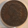 1825 C2 R1 Classic Head Half Cent PCGS F15 Mark Palmer Collection