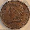 1828 C2 R1 Classic Head Half Cent PCGS MS62BN CAC Mark Palmer Collection
