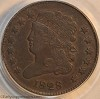 1828 C3 R1 Classic Head Half Cent PCGS EF45 Mark Palmer Collection