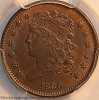 1835 C2 R1 Classic Head Half Cent PCGS MS64BN Mark Palmer Collection