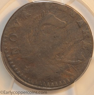 1787 New Jersey M46-e W5250 Small Planchet Plain Shield PCGS VG10 Jim Rehmus