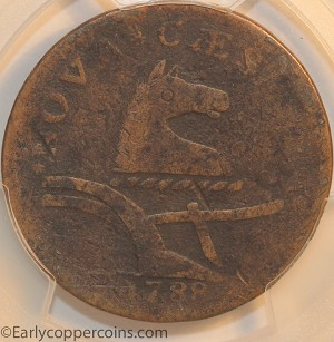 1788 New Jersey M67-v W5510 Head Right PCGS VF Jim Rehmus