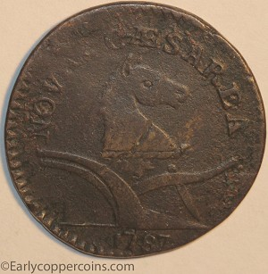 1787 New Jersey M34-j W5115 Deer Head Raw VF20 Jim Rehmus
